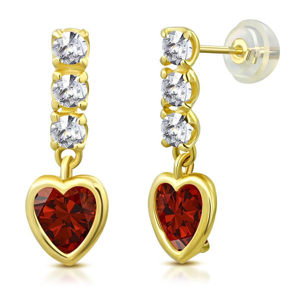 Ruby Princess Drop Earrings
