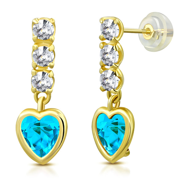 Aquamarine Princess Drop Earrings