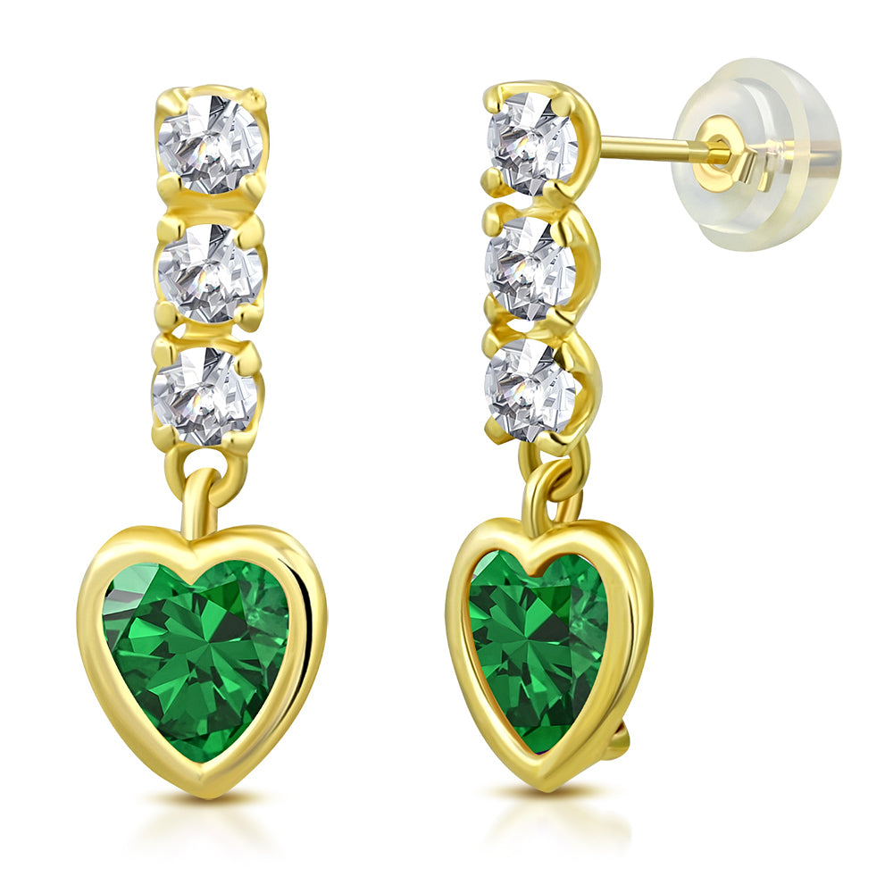 Emerald Girls Earrings
