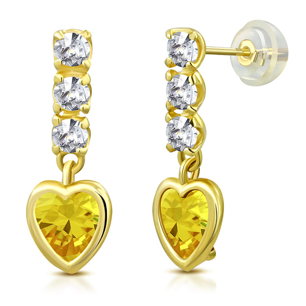 Citrine Girls Earring