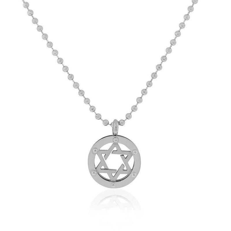 3D Jewish Star Necklace