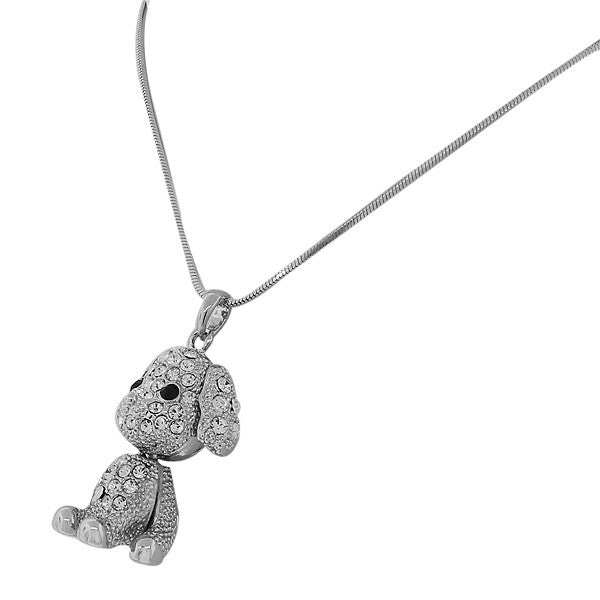 Crystal Sweet Puppy Pendant