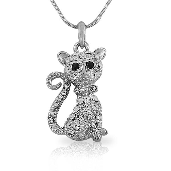 Crystal Kitty Pendant