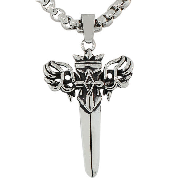Winged Sword Necklace