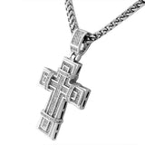 Stitched Latin Cross Pendant