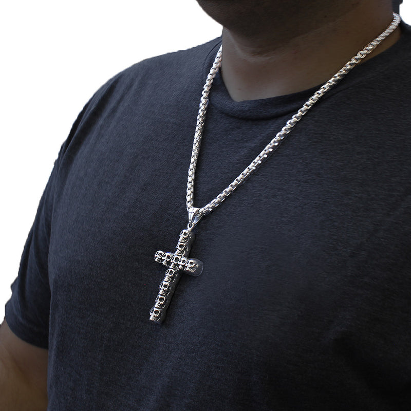 Skulled Cross Pendant