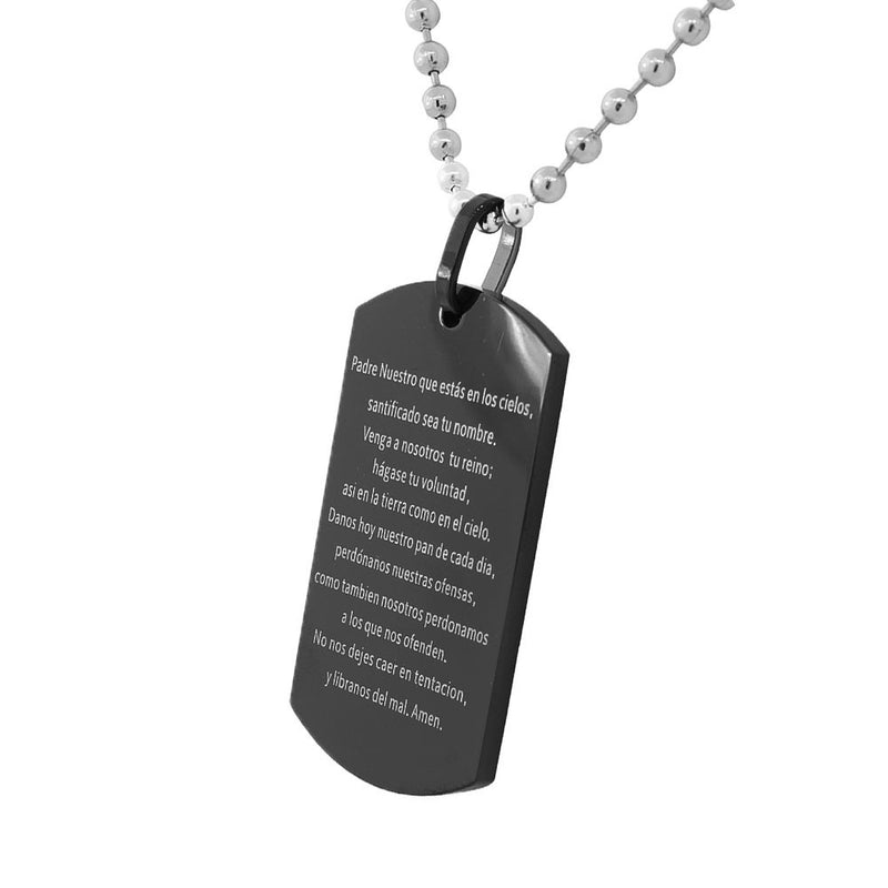 Black Coating Spanish Dogtag