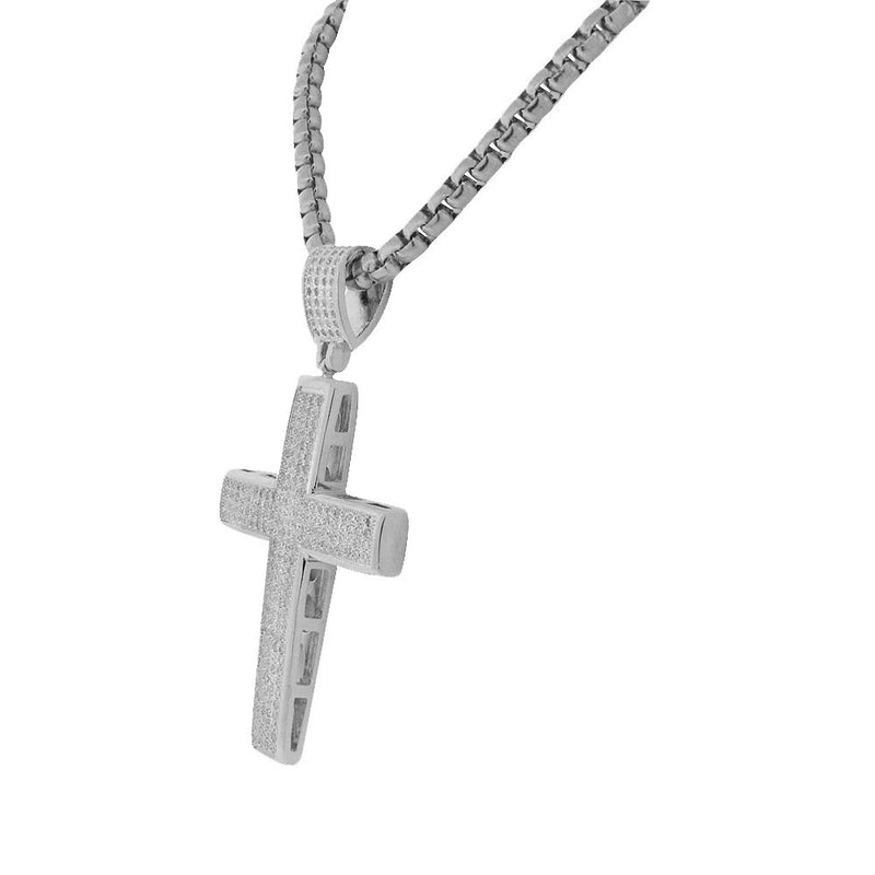 Silver Lined Cross Pendant