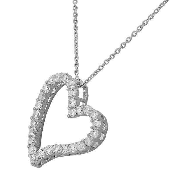 Frosted Heart Pendant