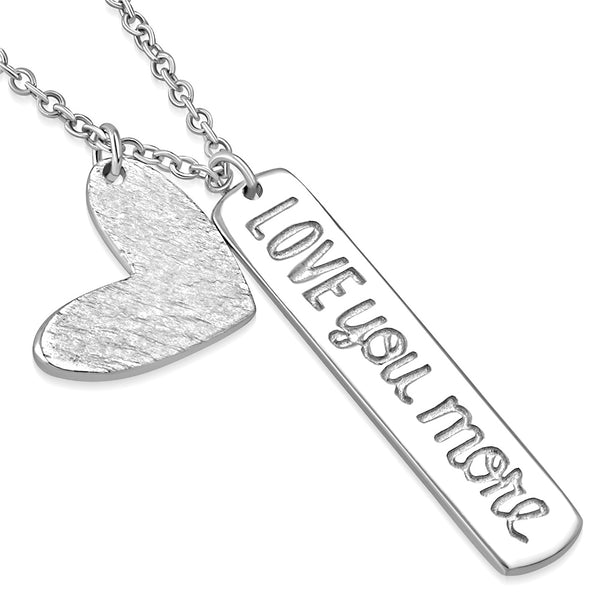 Dainty Love You More Necklace Sterling Silver