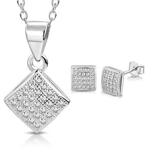 Silver Love Jewelry Set
