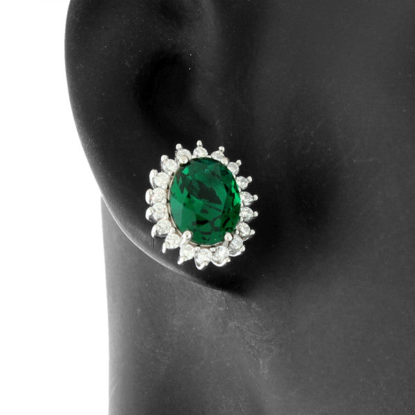 Green Amulet Studs