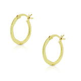 925 Sterling Silver Yellow Gold-Tone Round Hoop Earrings, 0.55""