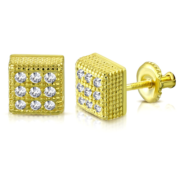 Golden Men's Earrings