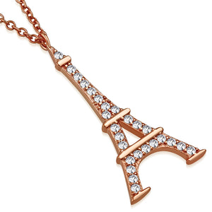Rose Eiffel Tower Pendant