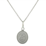 925 Sterling Silver Muslim Islam God Allah Pendant Necklace with Chain