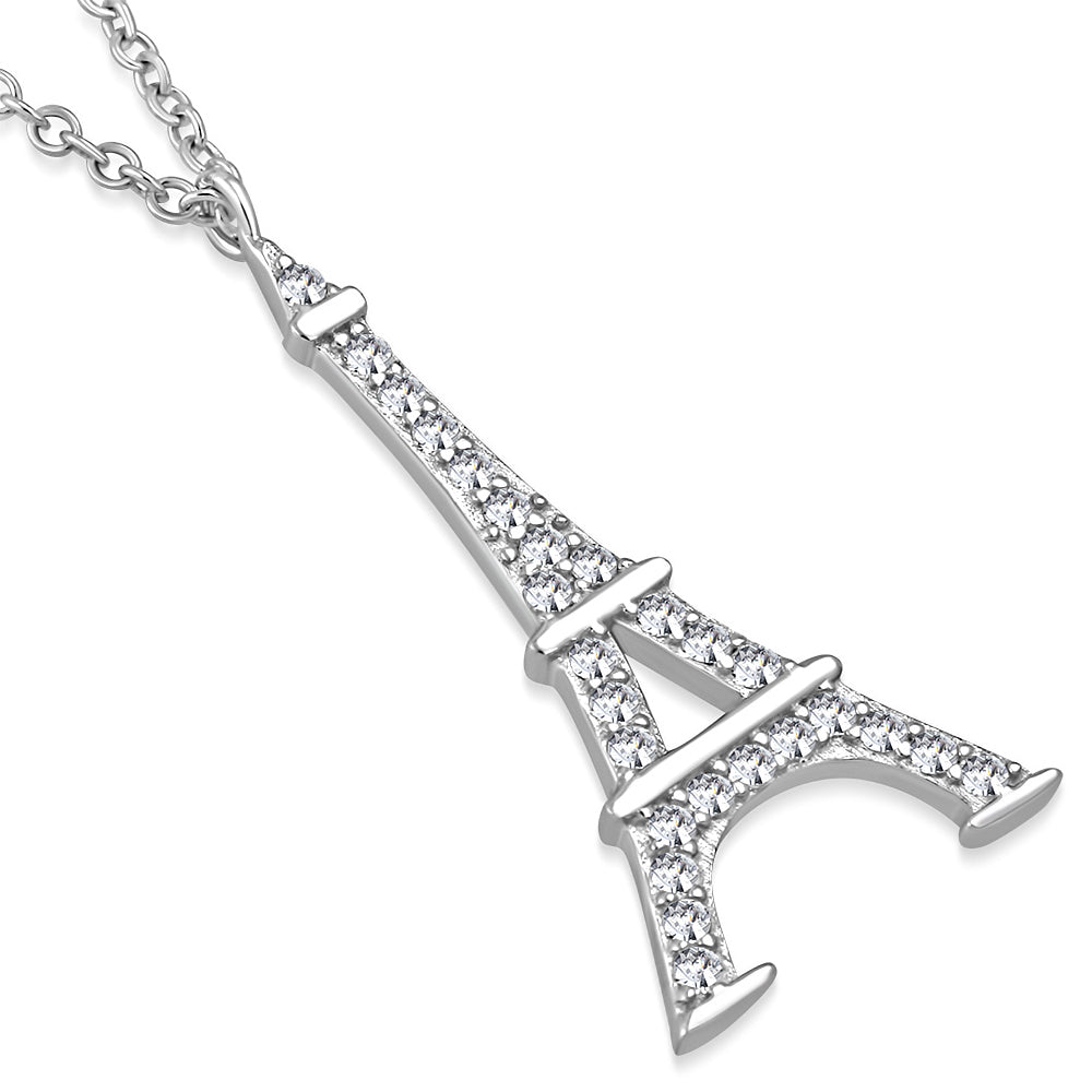 Crystal Eiffel Tower Pendant