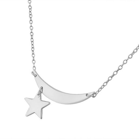 Shining Star Moon Pendant