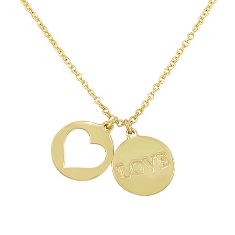 Double Love Coin Pendant