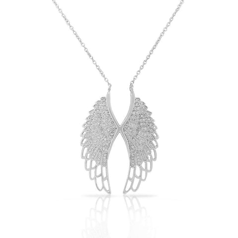 Elegant Angel Wings Pendant