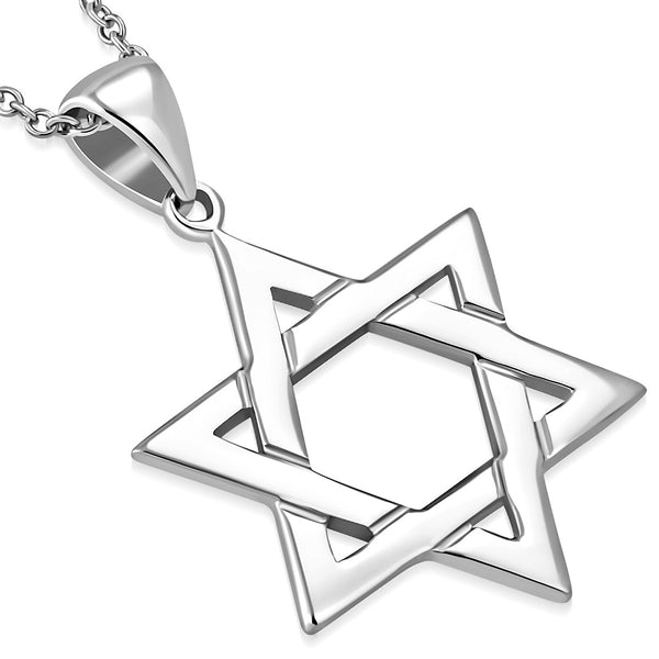 Simple Star of David Pendant Necklace 925 Sterling Silver