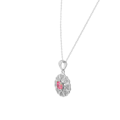 Pink Heart Flower Set