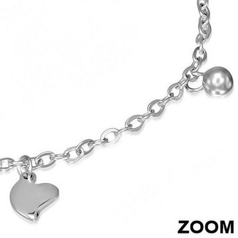 Heart Charm Clasp