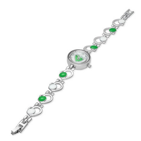 Green Accent Dial Watch