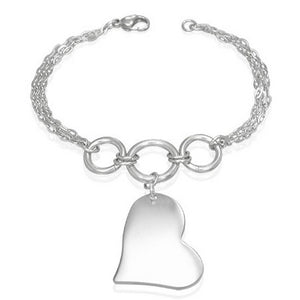 """Far Fetched Sterling Silver Brass /& Copper /""""peace heart/"""" Necklace"""