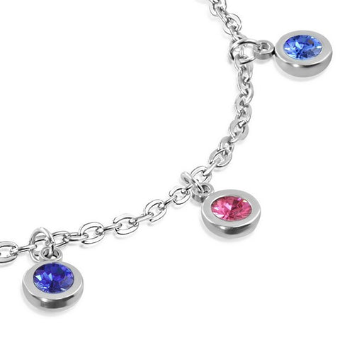 Multi Color Round Anklet