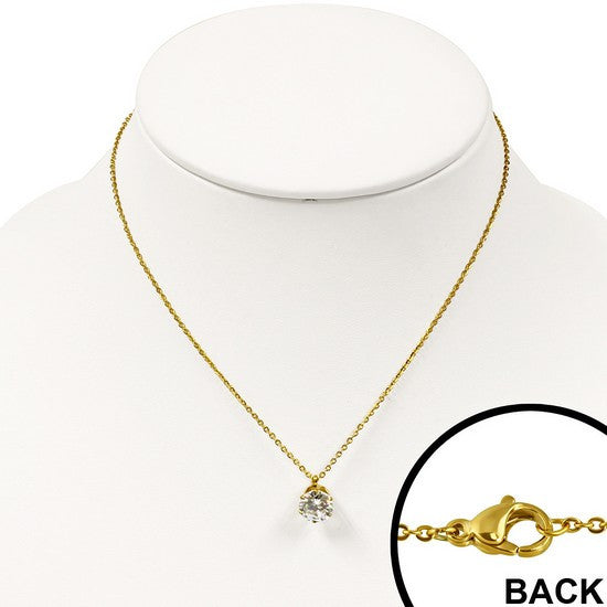 Sweet Gold Solitaire Necklace