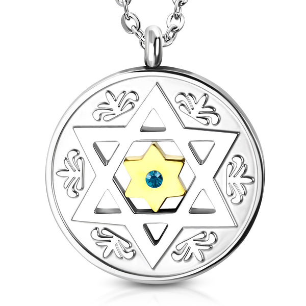 products necklace silver charm sterling light chain opal of large blue david pendant jewelry star