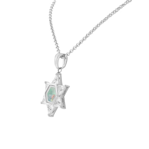 Star Stone Locket Necklace