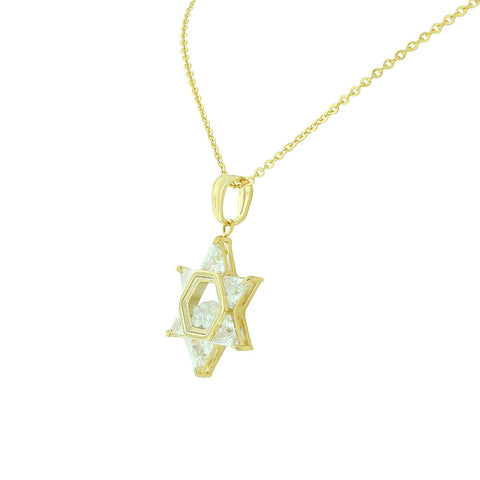 White Gold Star Necklace
