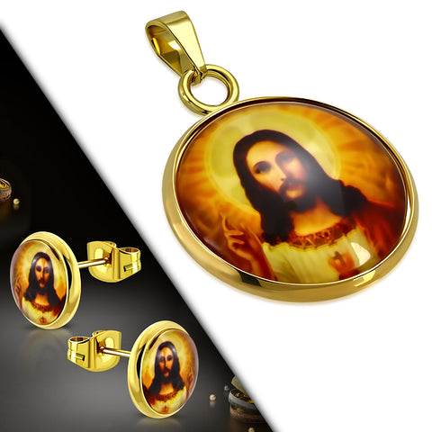 Jesus Medallion Jewelry Set