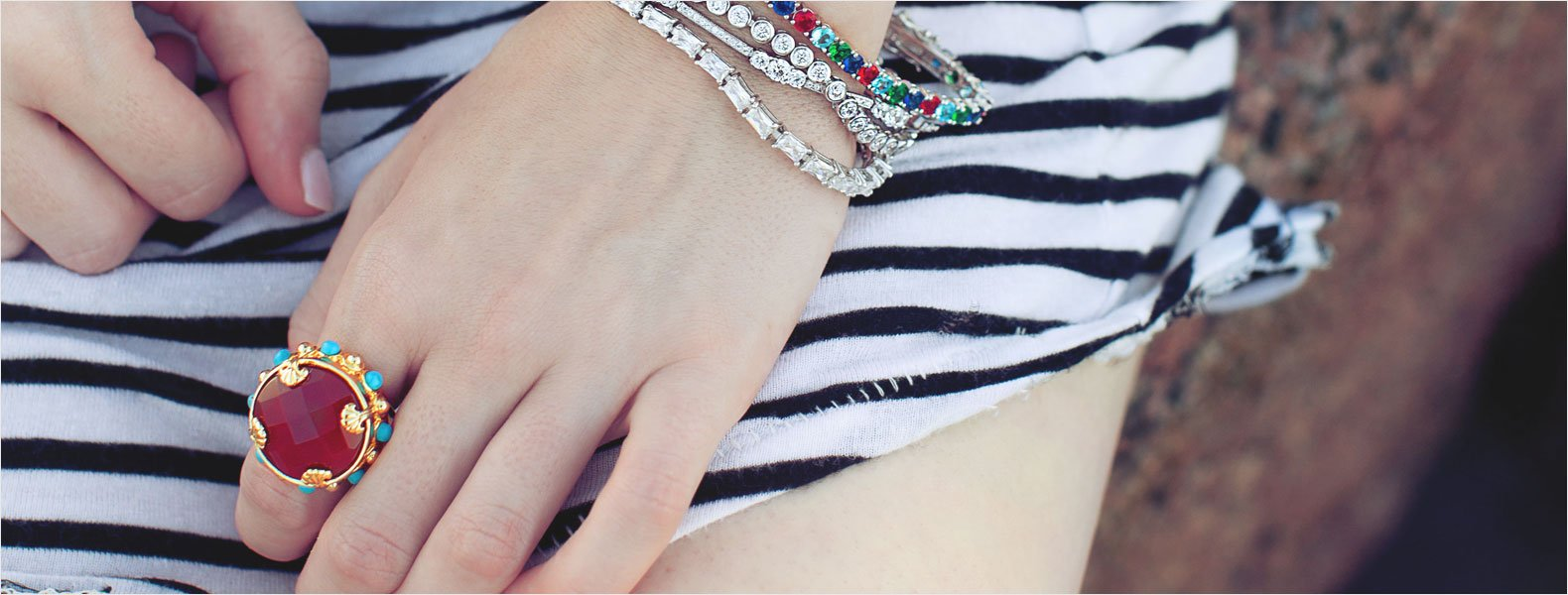 Stacked jewelry for cozy, cool accessorizing Layer-Worthy<br>Lovelies