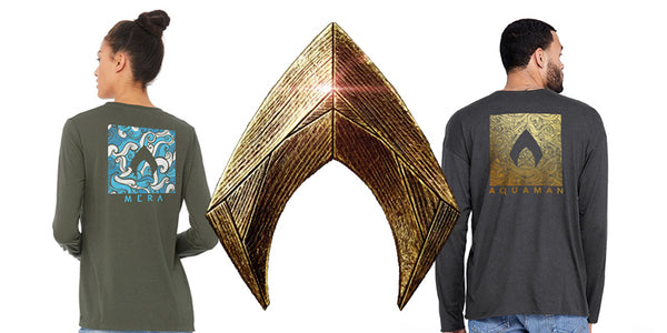 Aquaman and Mera Shirts have washed ashore!
