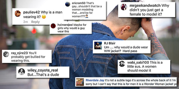 We made a Wonder Woman Jacket and guys hate it...