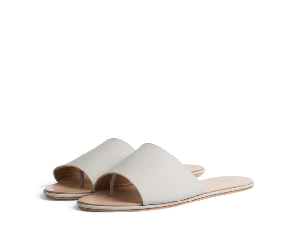 caelum slide sandal - cream super matte leather