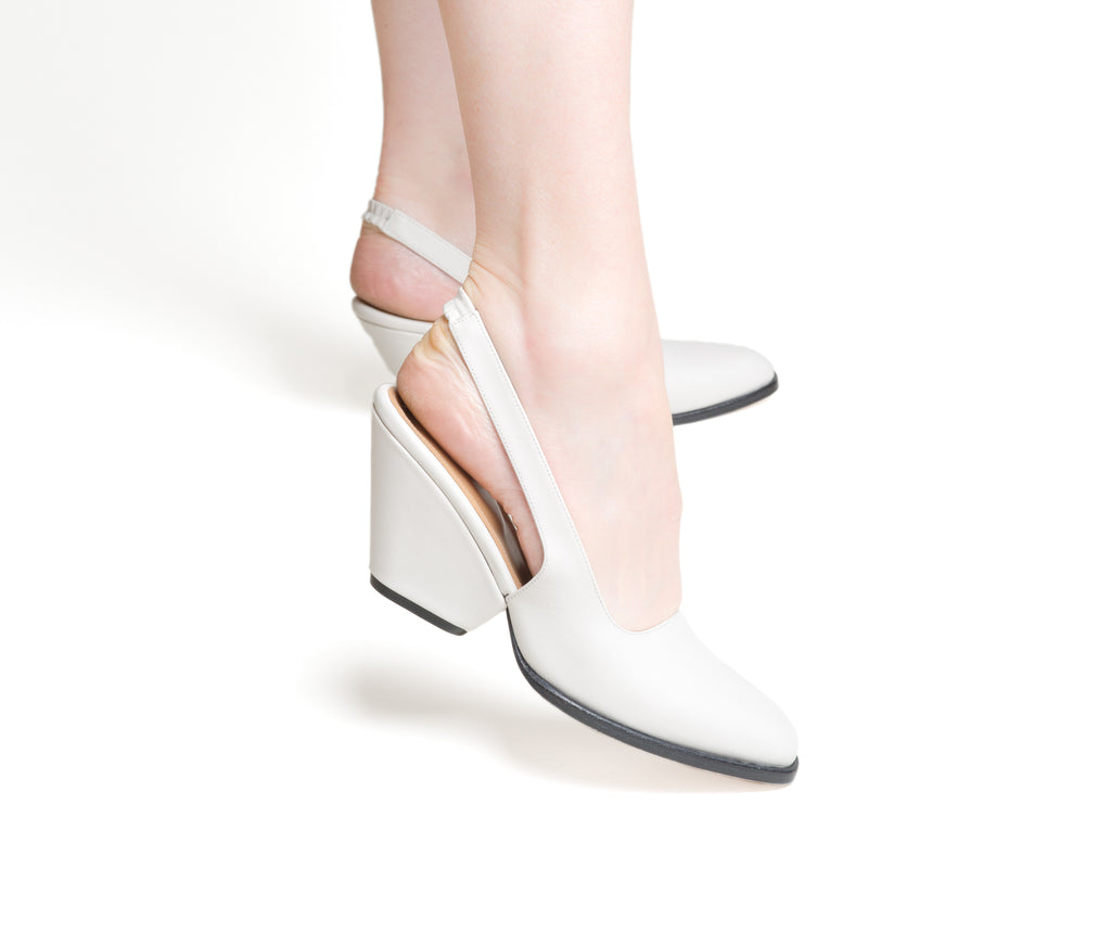 imago slingback with sculpted heel -  lunar smooth leather
