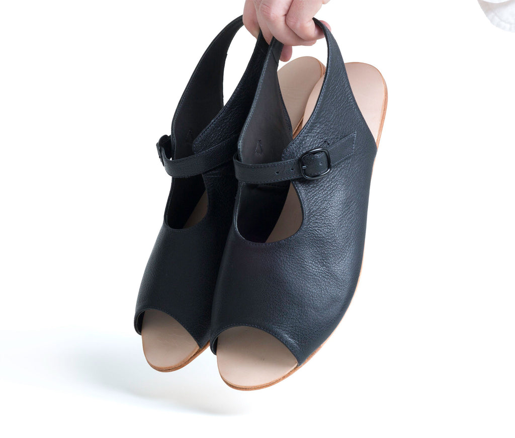 ratio sandal - black leather (web exclusive)