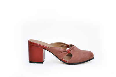 sudi mule - henna nubuck w rosewood leather - SIZE 7 SAMPLE