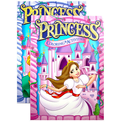 PRINCESS FOIL & EMBOSSED Coloring & Activity Book