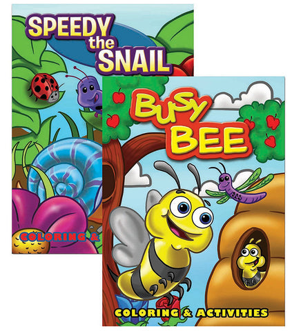 Busy Bee & Speedy The Snail Coloring & Activity Book