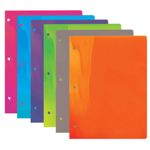 BAZIC Translucent 2-Pocket Poly Portfolio