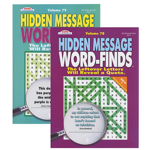 KAPPA Hidden Message Word Finds Book