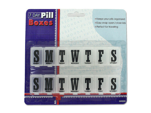 7 Day Pill Boxes Set