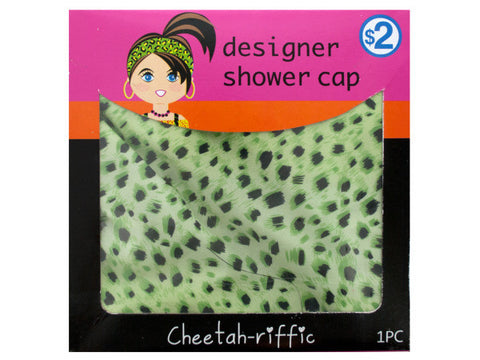 Cheetah Print Designer Shower Cap