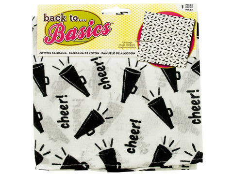 Black & White Cheer Bandana