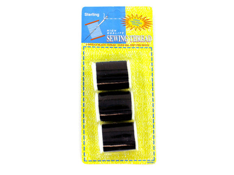 Black Sewing Thread Set